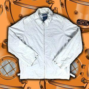 Nautica Yacht Jacket Full-Zip Beige Mens Size XL